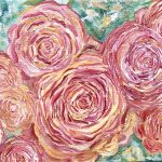 Roses, Oil On Canvas